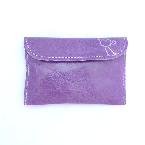 Italian leather Heather small coin purse