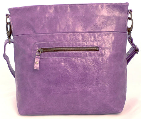Italian leather Heather zip tote