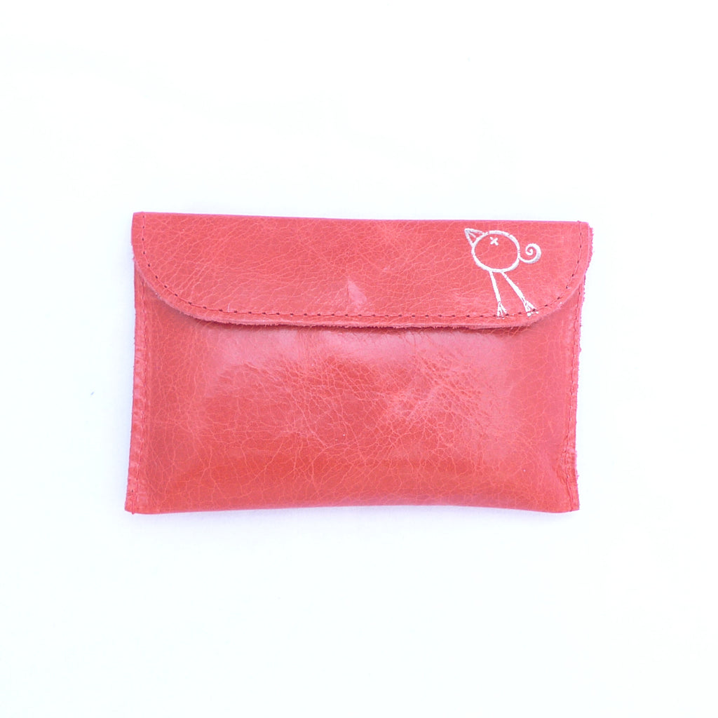 Italian leather Mandarin small coin purse