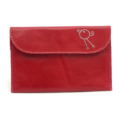 Italian leather Chilli small coin purse