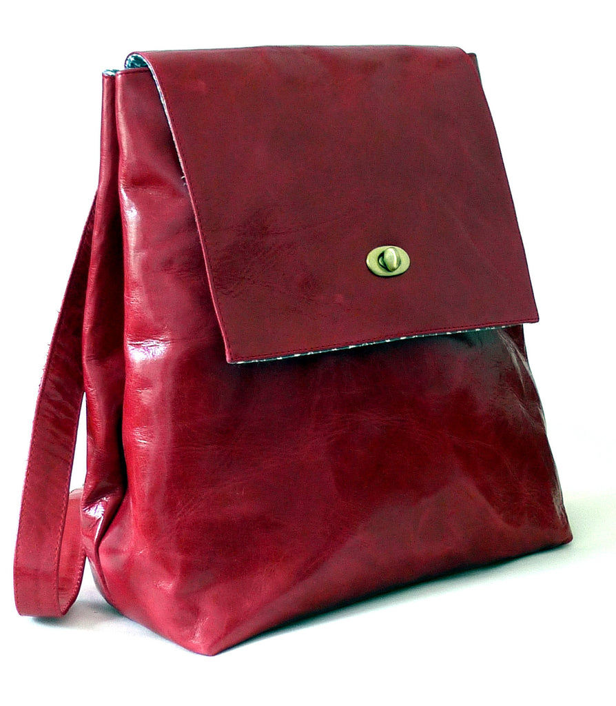 Italian leather Chilli rucksack
