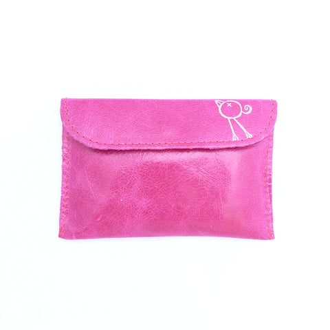 Italian leather Rose small coin purse