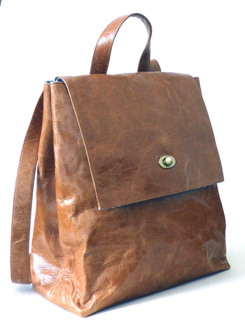 Italian leather Tan rucksack