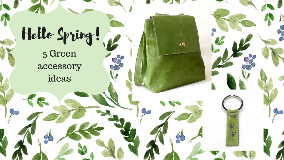 Green and lovely leather accessories