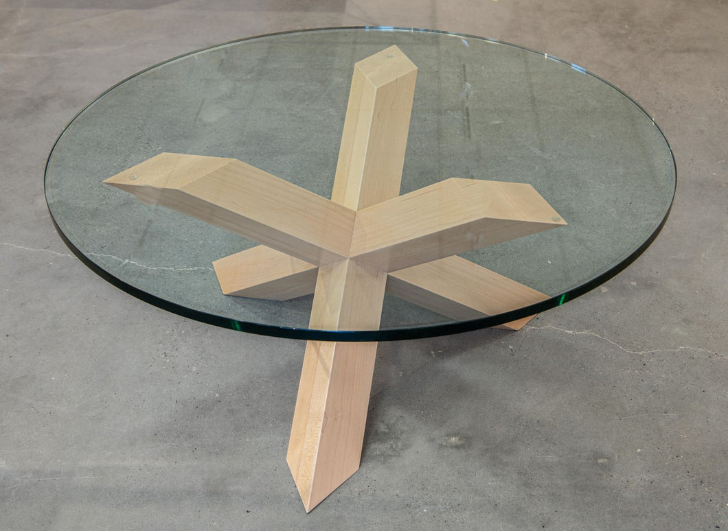 Star Coffee Table with Glass top