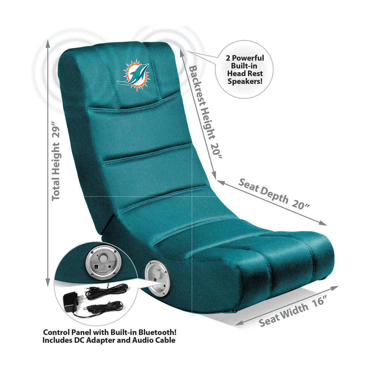 Miami Dolphins Video Chair W/ Blue Tooth