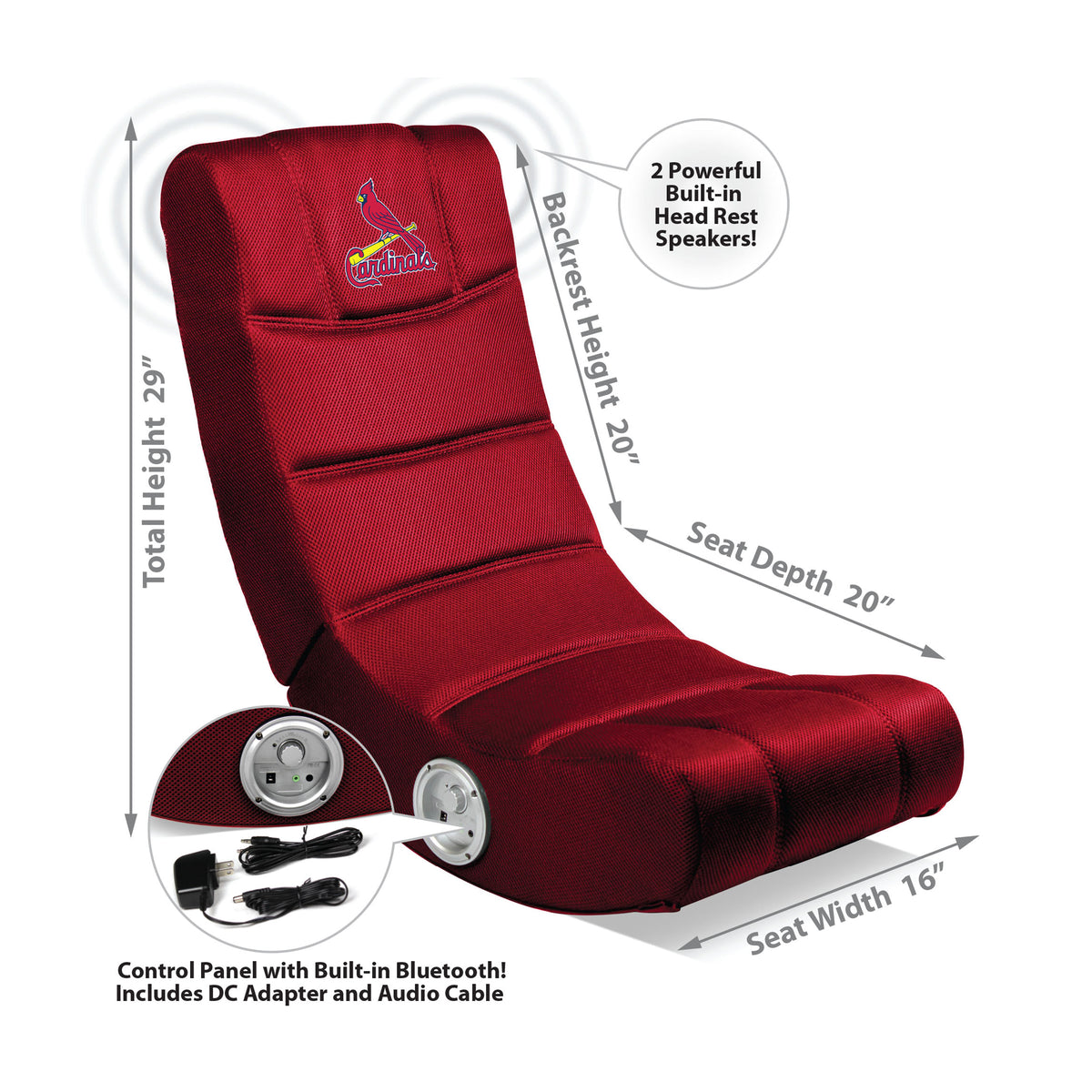 St Louis Cardinals Video Chair W/ Bluetooth