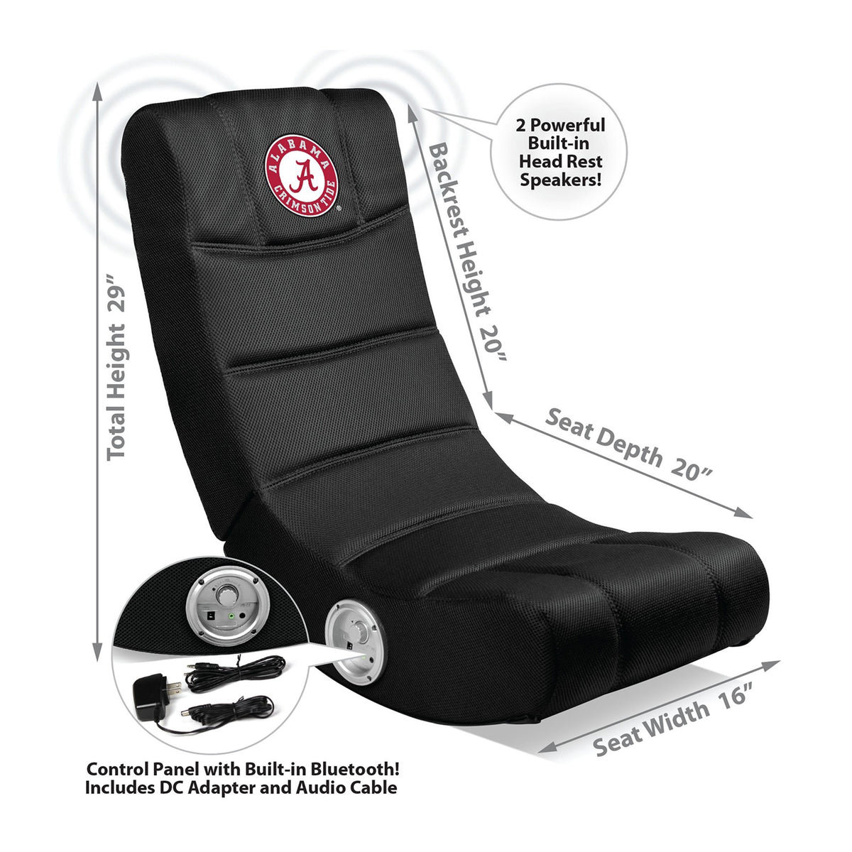 University Of Alabama Video Chair With Blue Tooth