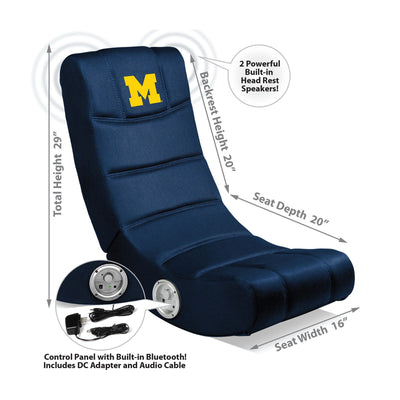 University Of Michigan Video Chair With Blue Tooth
