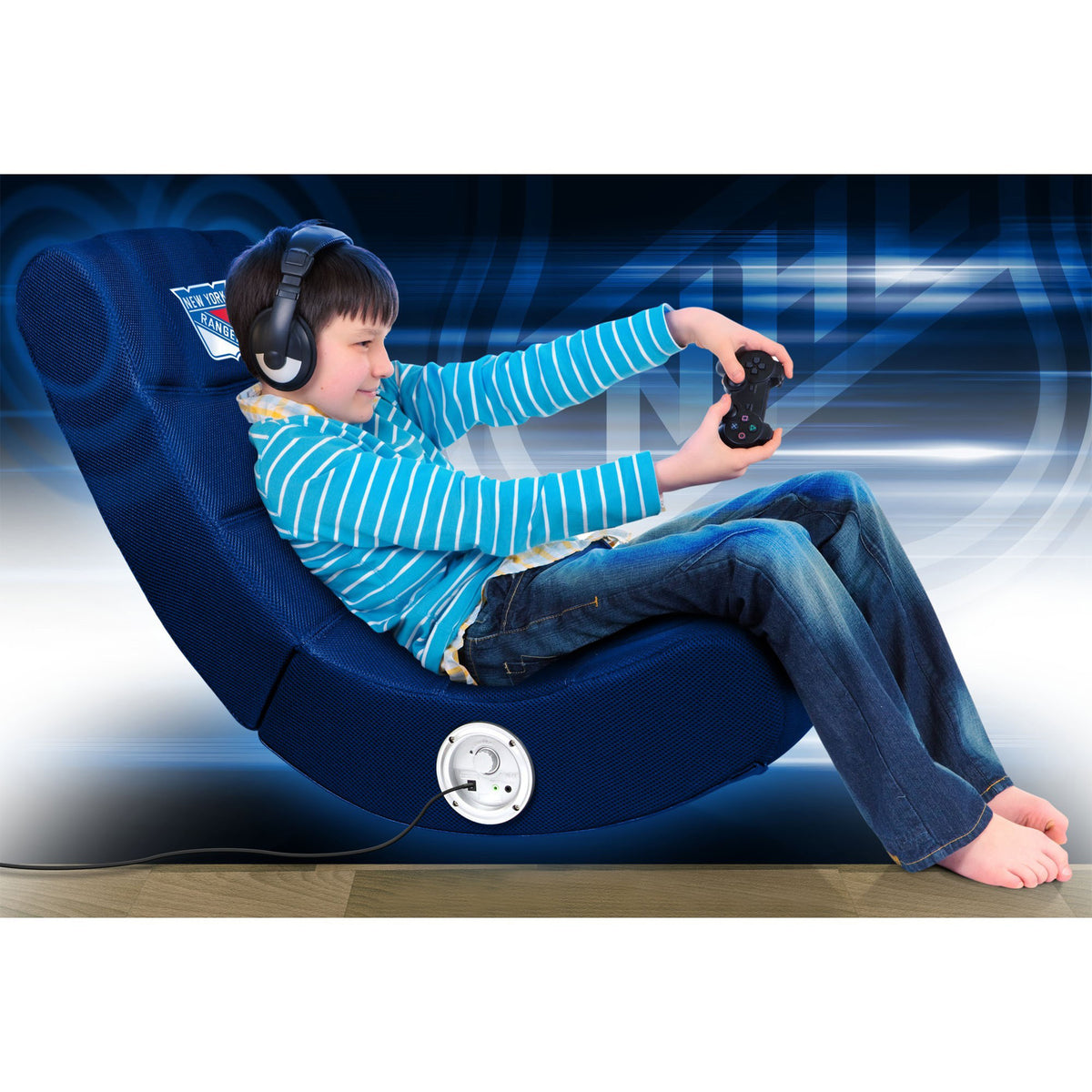 New York Rangers Video Chair W/Bluetooth