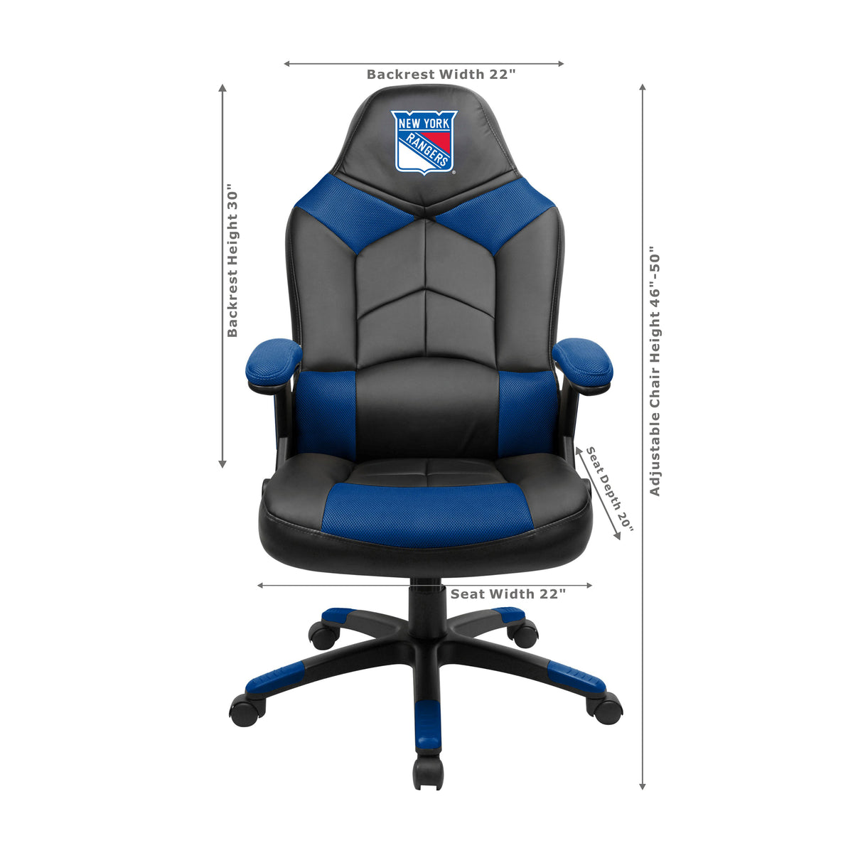 New York Rangers Oversized Game Chair