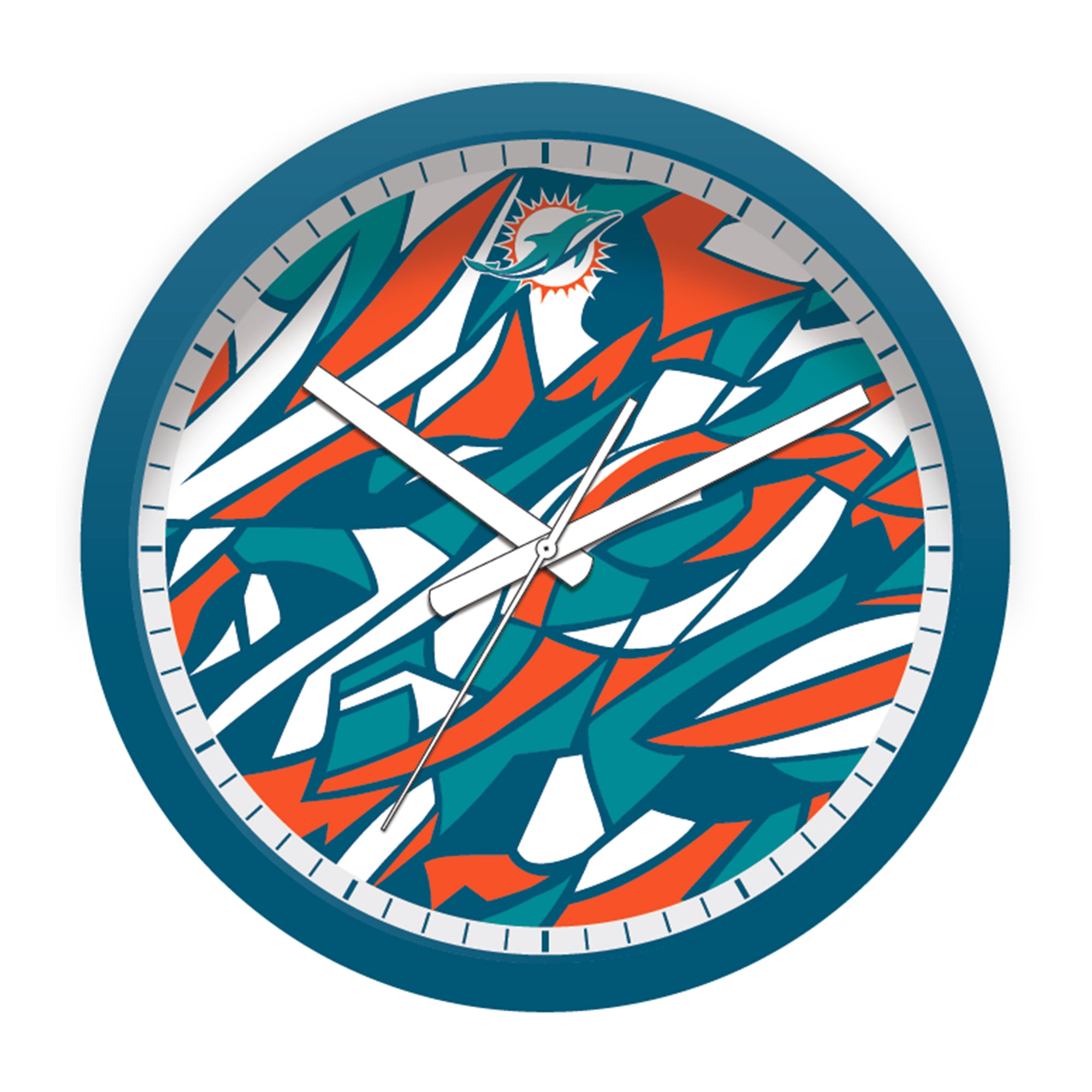 FREE Miami Dolphins Modern Fit Clock