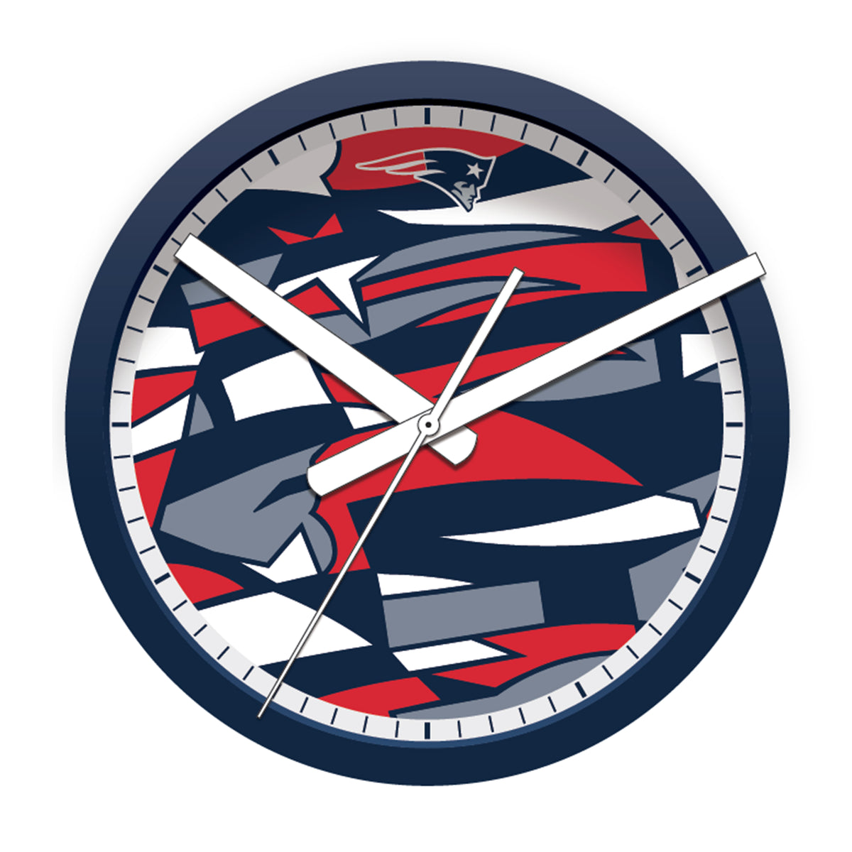 FREE New England Patriots Modern Fit Clock