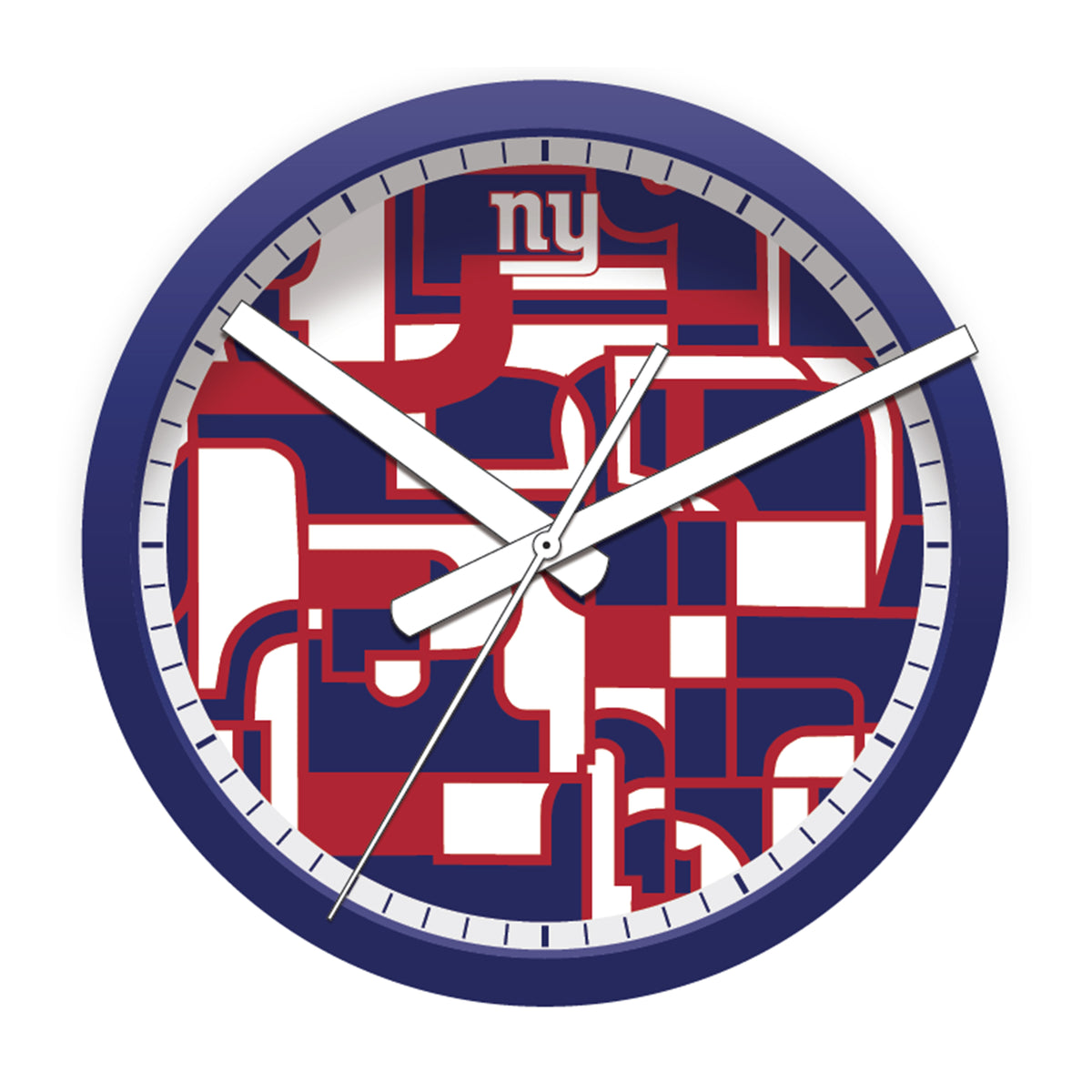 FREE New York Giants Modern Fit Clock