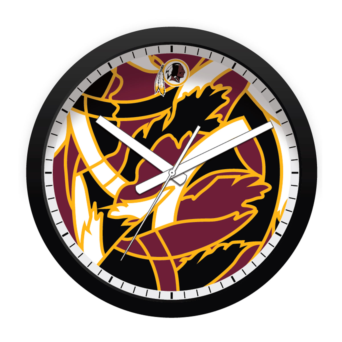 FREE Washington Redskins Modern Fit Clock
