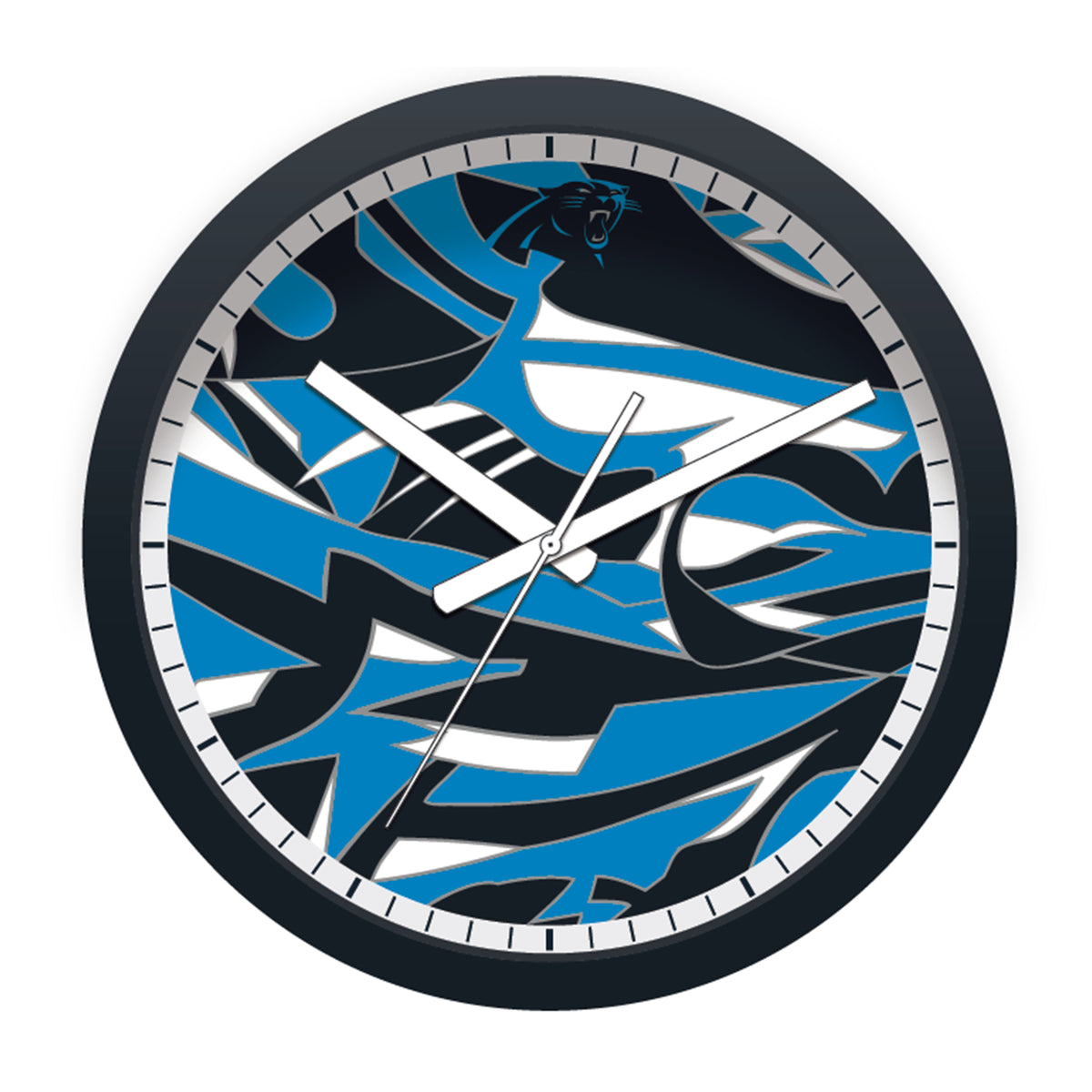 FREE Carolina Panthers Modern Fit Clock