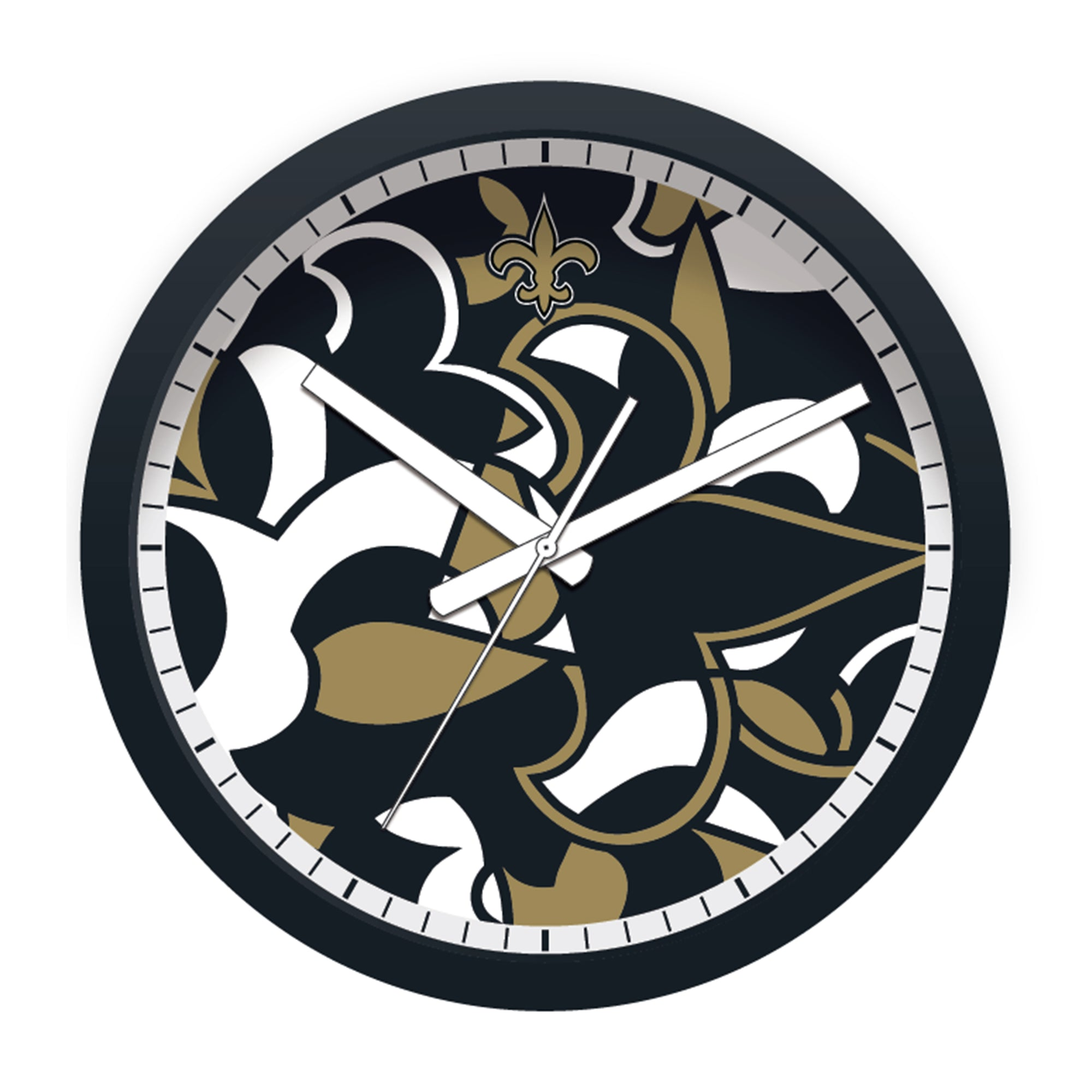 FREE New Orleans Saints Modern Fit Clock