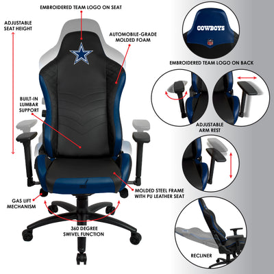 Dallas Cowboys Pro Series Gaming Chair