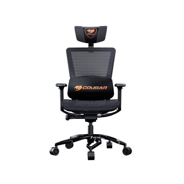 COUGAR ARGO BLACK (3MERGOCB.0001) with a Premium Aluminum Frame 150 kg Capacity Gaming Chair (Black)