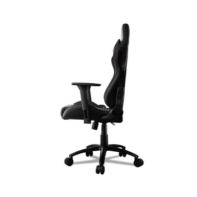 COUGAR ARMOR PRO BLACK Swivelling Gaming Chair with Suede-Like Texture,Body-embracing High Back Design,Breathable Premium PVC Leather