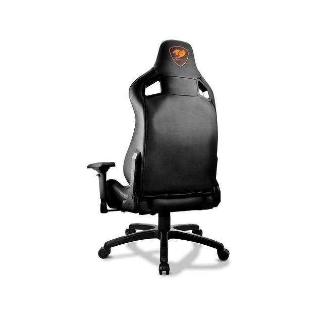 Cougar Armor S (Black) Luxury Gaming Chair with Breathable Premium PVC Leather and Body-embracing High Back Design