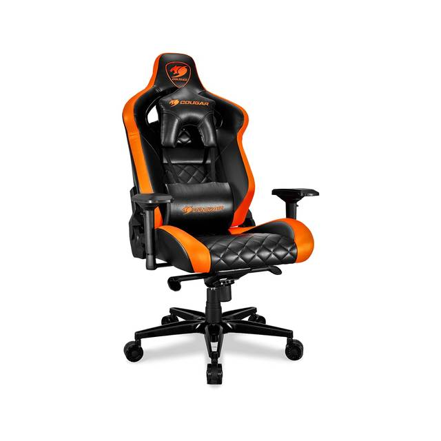Cougar Armor Titan (Orange) ultimate gaming chair with premium breathable pvc leather, 160kg support, 170 degree reclining