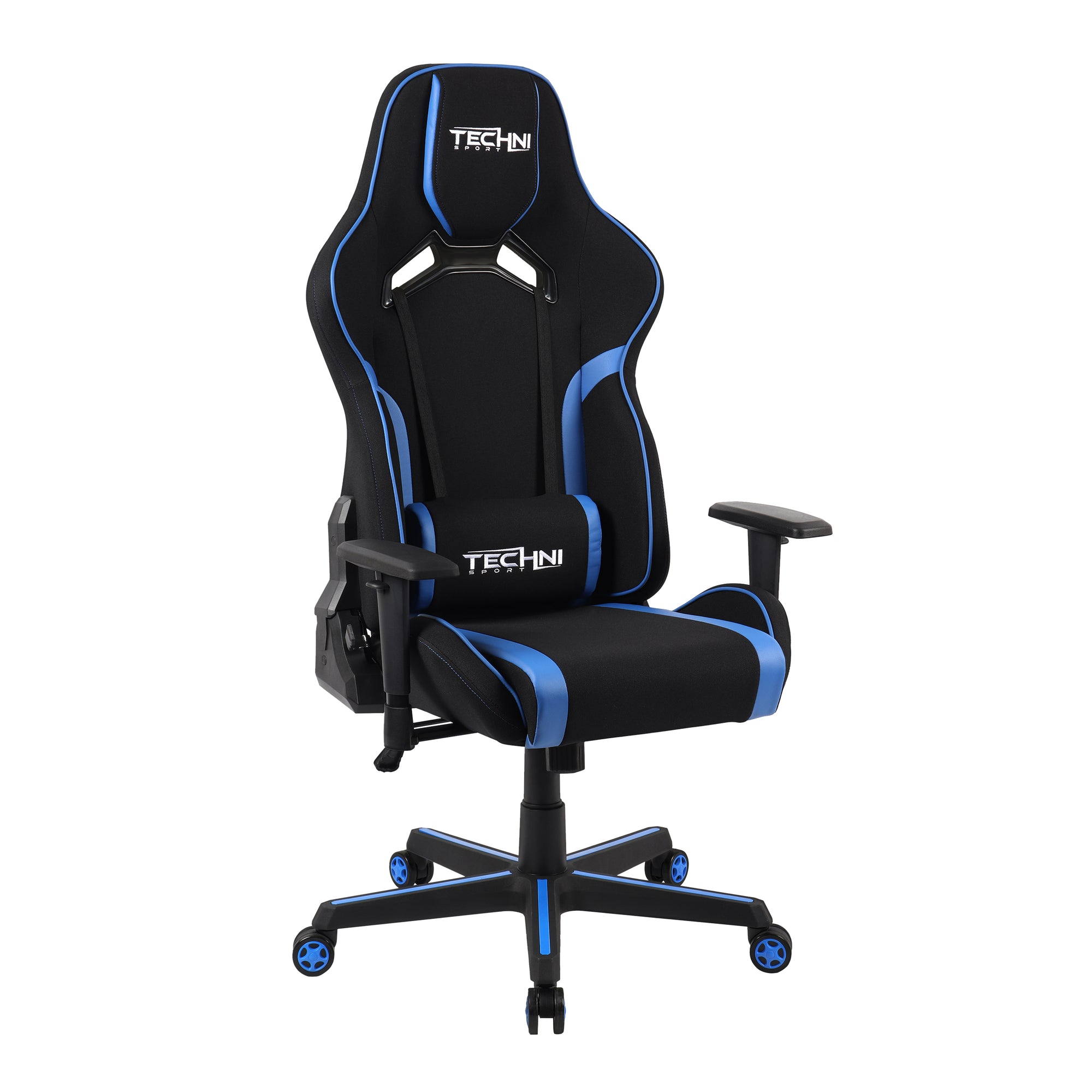 Techni Sport TSF-71 Fabric Office-PC Gaming Chair, Blue