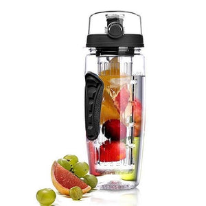 1L 32 Oz Fruit Infuser Detox  Water Bottle