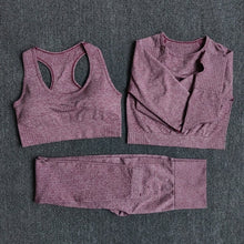 Load image into Gallery viewer, 3 pcs Fitness Yoga Suits