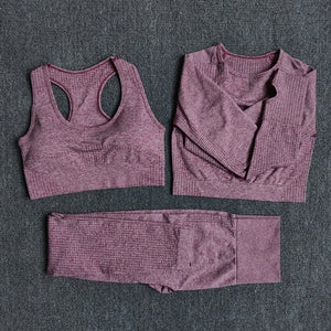 3 pcs Fitness Yoga Suits