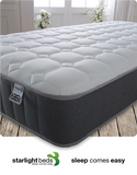 Load image into Gallery viewer, Starlight Beds 9 Inch Deep Diamond Tile Sprung Memory Foam Mattress