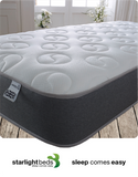 Load image into Gallery viewer, Starlight Beds Ying Yang 9 Inch Deep Sprung Memory Foam Mattress Finished with a Luxurious Soft Cool Touch Top Panel and Grey Border