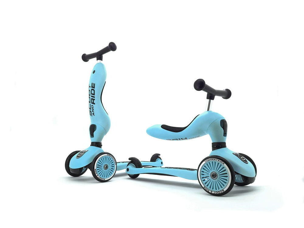 Monopattino e Triciclo 2in1 colore Blueberry, Scoot and Ride