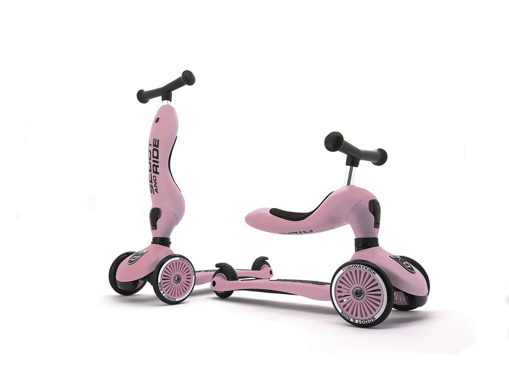 Monopattino e Triciclo 2in1 colore Rose, Scoot and Ride