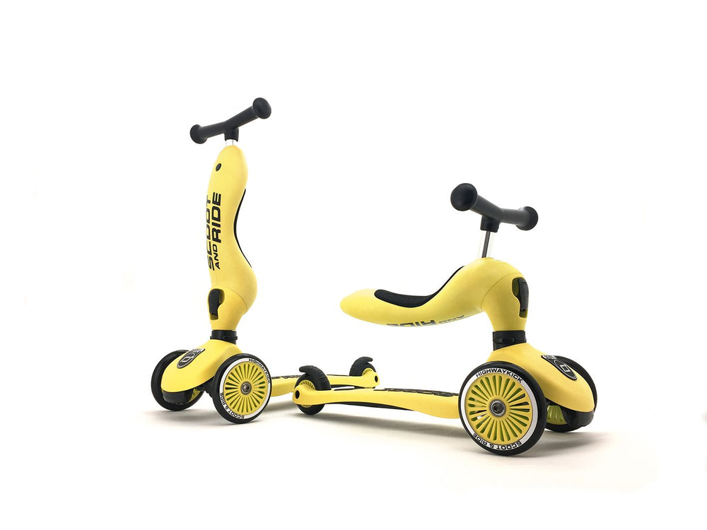Monopattino e Triciclo 2in1 colore Giallo, Scoot and Ride