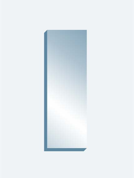 "Scrim See-Thru Mirror 24"" x 72"" x 1-1/4"" thick"