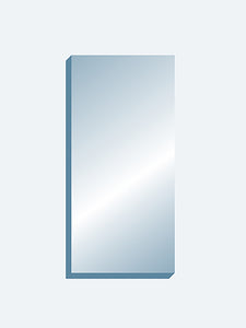 "Wall Mount Mirror 36"" x 72"" x 1.25"" thick"
