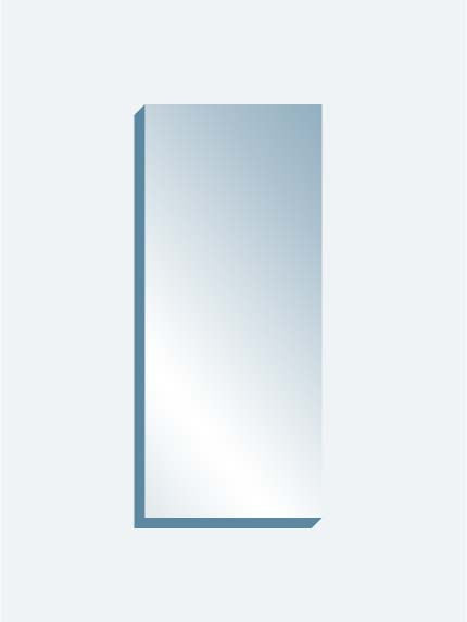 "Scrim See-Thru Mirror 36"" x 84"" x 1-1/4"" thick"