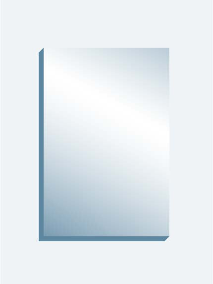"Optical Grade Mirror 48"" x 72"" x 1-7/16"" thick"