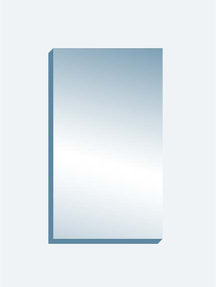 "Scrim See-Thru Mirror 48"" x 84"" x 1-1/4"" thick"