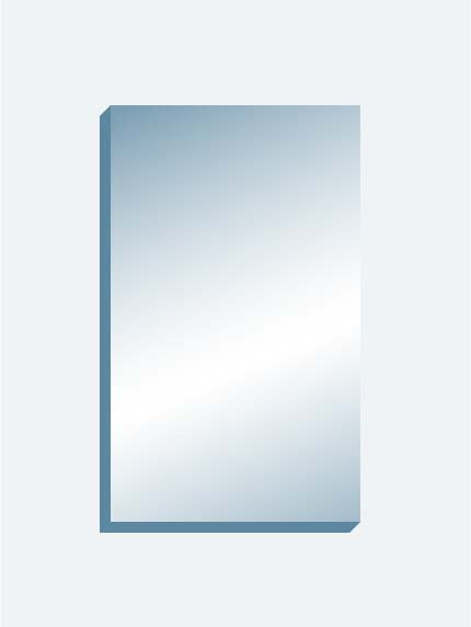 "Wall Mount Mirror 72"" x 120"" x 1.25"" thick"