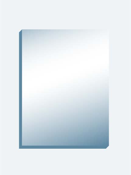 "Speech Therapy Mirror 12"" x 16"" x 0.75"" in Blue Folder"
