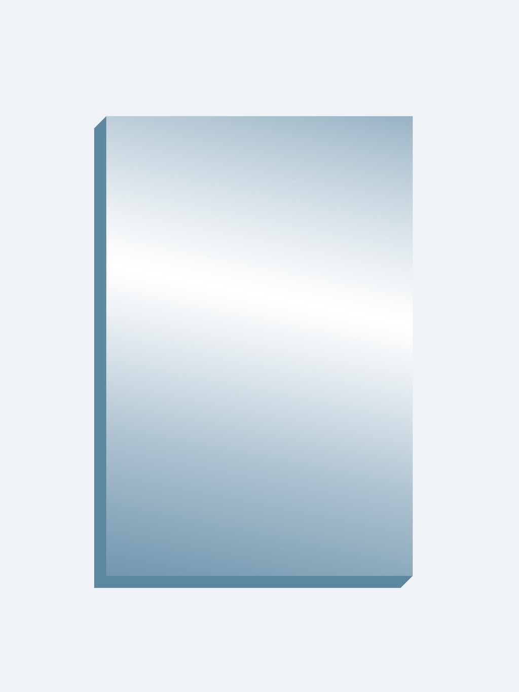 "Optical Grade Mirror 72"" x 108"" x 1-7/16"" thick"