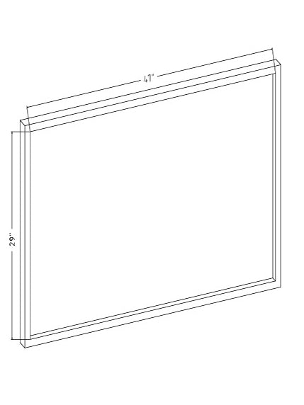 "TV Scrim See-Thru Mirror 47"" x 29"" x 1"" thick"