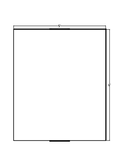 "60"" x 72"" x 1.25"" WM Glassless Mirror"
