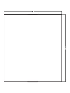 "Optical Grade Mirror 72"" x 84"" x 1-7/16"" thick"