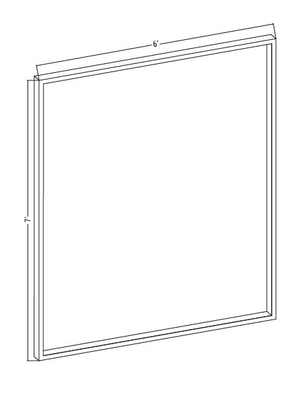 "Scrim See-Thru Mirror 72"" x 84"" x 1-1/4"" thick"