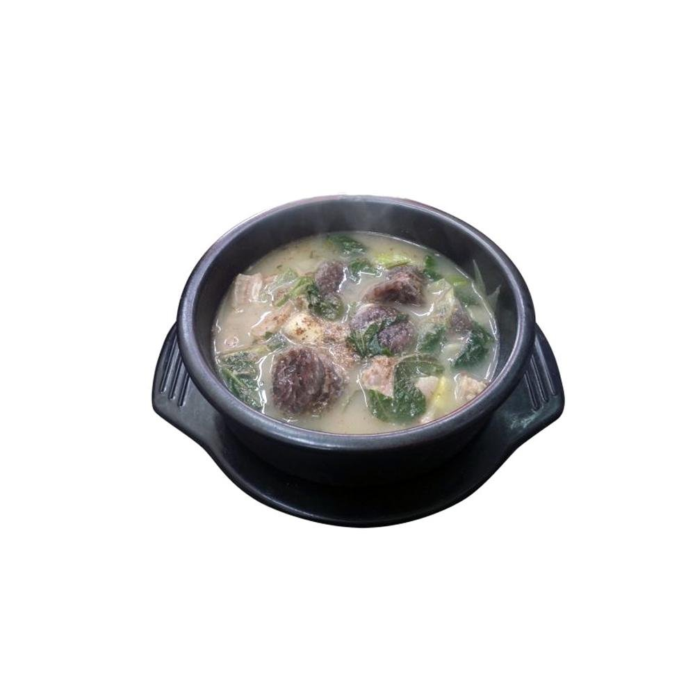 Blood sausage soup <br>with rice Sim Cook