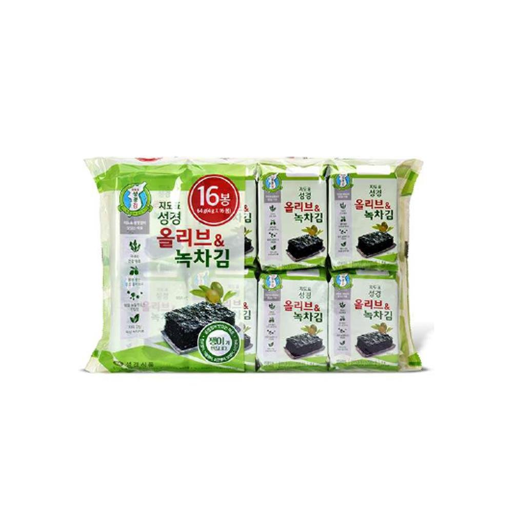 Olive & Green Tea Seaweed 4gx16p woody foody
