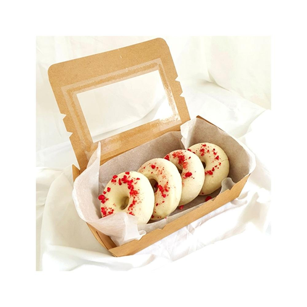 Raspberry & vanilla<br> Donuts (4pcs) Twins Blend Lab